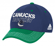 Vancouver Canucks Adidas NHL Authentic Locker Room Structured Flex Hat