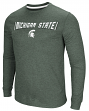 """Michigan State Spartans NCAA """"Cake Time"""" Men's Long Sleeve T-Shirt"""