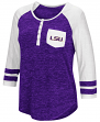 "LSU Tigers NCAA Women's ""Inconceivable"" 3/4 Sleeve Henley Shirt"