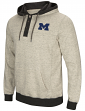 "Michigan Wolverines Men's NCAA ""Bolton"" Hooded Henley Sweatshirt"