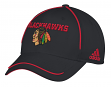 "Chicago Blackhawks Adidas NHL ""Piping Fade"" Structured Adjustable Hat"