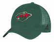 """Minnesota Wild Adidas NHL """"Face-Off"""" Slouch Flex Fitted Mesh Back Hat"""