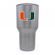 Miami Hurricanes NCAA Stainless Steel Insulated 30oz Tumbler - Silver