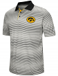 """Iowa Hawkeyes NCAA """"Number One"""" Men's Performance Striped Polo Shirt"""