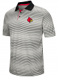 "Louisville Cardinals NCAA ""Number One"" Men's Performance Striped Polo Shirt"