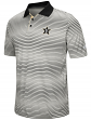 """Vanderbilt Commodores NCAA """"Number One"""" Men's Performance Striped Polo Shirt"""
