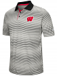 "Wisconsin Badgers NCAA ""Number One"" Men's Performance Striped Polo Shirt"