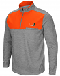 "Miami Hurricanes NCAA ""Curl Route"" Men's 1/4 Zip Fleece Jacket"