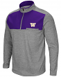 "Washington Huskies NCAA ""Curl Route"" Men's 1/4 Zip Fleece Jacket"