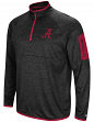 "Alabama Crimson Tide NCAA ""Screen Pass"" Men's 1/4 Zip Poly Slub Jacket"