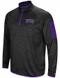 "TCU Horned Frogs NCAA ""Screen Pass"" Men's 1/4 Zip Poly Slub Jacket"