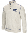 "Michigan Wolverines Men's NCAA ""Bowl Game"" 1/2 Button Up Henley Sweatshirt"