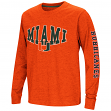 "Miami Hurricanes NCAA ""Touchdown"" Youth Dual Blend Long Sleeve T-Shirt"
