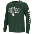 """Michigan State Spartans NCAA """"Touchdown"""" Youth Dual Blend Long Sleeve T-Shirt"""
