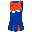 """Boise State Broncos NCAA Toddler """"Pom Pom"""" 2 Piece Set Cheerleader Outfit"""