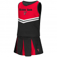 "Texas Tech Red Raiders NCAA Toddler ""Pom Pom"" 2 Piece Set Cheerleader Outfit"
