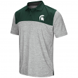 """Michigan State Spartans NCAA """"Clear Sailing"""" Men's Performance Woven Polo Shirt"""