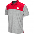 "Nebraska Cornhuskers NCAA ""Clear Sailing"" Men's Performance Woven Polo Shirt"