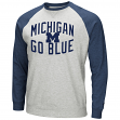 "Michigan Wolverines NCAA ""Cross Country"" Men's Pullover Crew Sweatshirt"