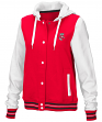 "Wisconsin Badgers Women's NCAA ""Halfpipe"" Hooded Varsity Jacket"