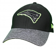 "New England Patriots New Era NFL 39THIRTY ""Popped Shadow"" Flex Fit Hat - Black"