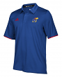 "Kansas Jayhawks Adidas NCAA 2018 Sideline ""Team Iconic"" Polo Shirt - Blue"