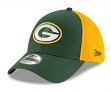 """Green Bay Packers New Era NFL 39THIRTY """"2T Sided"""" Flex Fit Meshback Hat"""