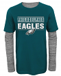 """Philadelphia Eagles Youth NFL """"Hardy Fan"""" L/S Faux Layer Thermal Shirt"""