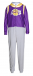 "Los Angeles Lakers NBA ""Warm Up"" Unisex Micro Fleece Union Suit"