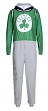 "Boston Celtics NBA ""Warm Up"" Unisex Micro Fleece Union Suit"