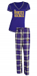 "Minnesota Vikings NFL ""Super Duo"" Women's T-shirt & Flannel Pants Sleep Set"