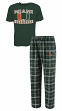 "Miami Hurricanes NCAA ""Great Duo"" Men's T-shirt & Flannel Pants Sleep Set"