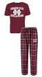 """Mississippi State Bulldogs """"Great Duo"""" Men's T-shirt & Flannel Pants Sleep Set"""