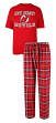 "New Jersey Devils NHL ""Great Duo"" Men's T-shirt & Flannel Pants Sleep Set"