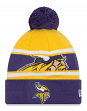 "Minnesota Vikings New Era NFL ""Callout Pom"" Cuffed Knit Hat with Pom"