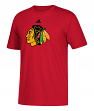 Chicago Blackhawks Adidas NHL Primary Logo Men's Red Short Sleeve T-Shirt
