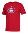 Montreal Canadiens Adidas NHL Primary Logo Men's Red Short Sleeve T-Shirt