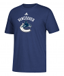 Vancouver Canucks Adidas NHL Primary Logo Men's Blue Short Sleeve T-Shirt