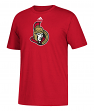 Ottawa Senators Adidas NHL Primary Logo Men's Red Short Sleeve T-Shirt