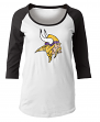 "Minnesota Vikings Women's New Era NFL ""Score"" 3/4 Sleeve Scoop Neck Shirt"