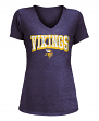 "Minnesota Vikings Women's New Era NFL ""Game Over"" Tri-Blend V-Neck Shirt"