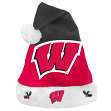 Wisconsin Badgers 2018 NCAA Basic Logo Plush Christmas Santa Hat