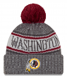 "Washington Redskins New Era 2018 NFL ""Sport Knit"" Cuffed Hat with Pom - Graphite"