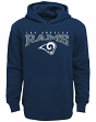 "Los Angeles Rams Youth NFL ""Fadeout"" Pullover Hooded Sweatshirt"