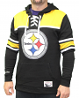 "Pittsburgh Steelers Mitchell & Ness NFL ""Skate Lace"" Pullover Hooded Sweatshirt"