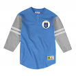"Kansas City Royals Mitchell & Ness MLB Men's ""Team Logo"" 3/4 Sleeve Henley Shirt"