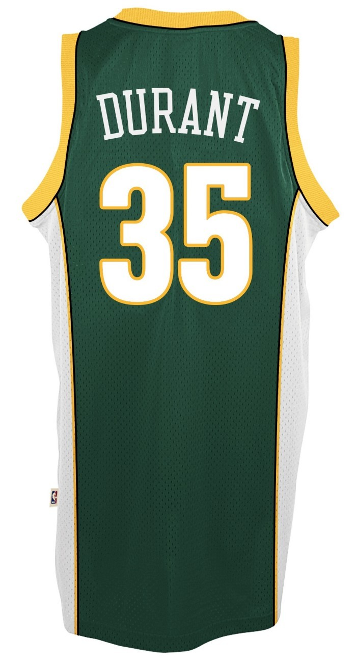 107a122d7 where to buy kevin durant seattle supersonics adidas nba throwback swingman  green jersey. kevin durant
