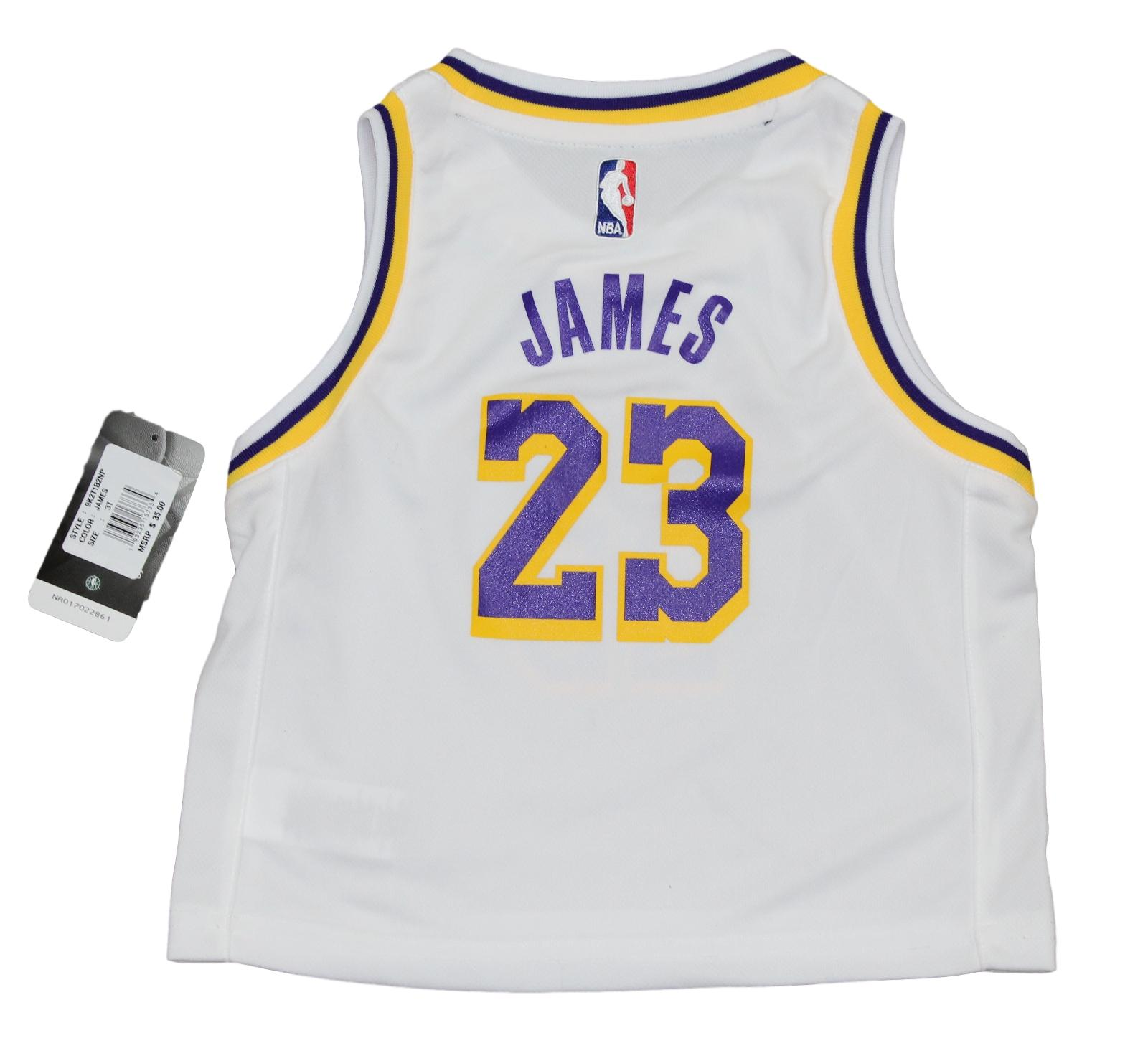 b4b51aee807bb Lebron James Los Angeles Lakers Toddler NBA Replica Jersey - White. Lebron  James Los Angeles Lakers Toddler NBA ...