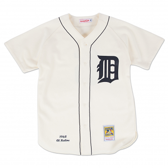 Al Kaline Detroit Tigers Mitchell & Ness Authentic MLB 1968 Button Up Jersey