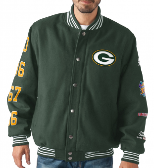 "Green Bay Packers NFL ""Dynasty"" Men's Super Bowl Commemorative Varsity Jacket"